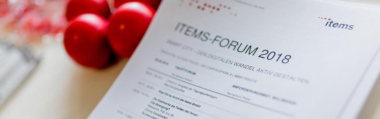 Teaser der Veranstaltungsagenda items-Forum 2018