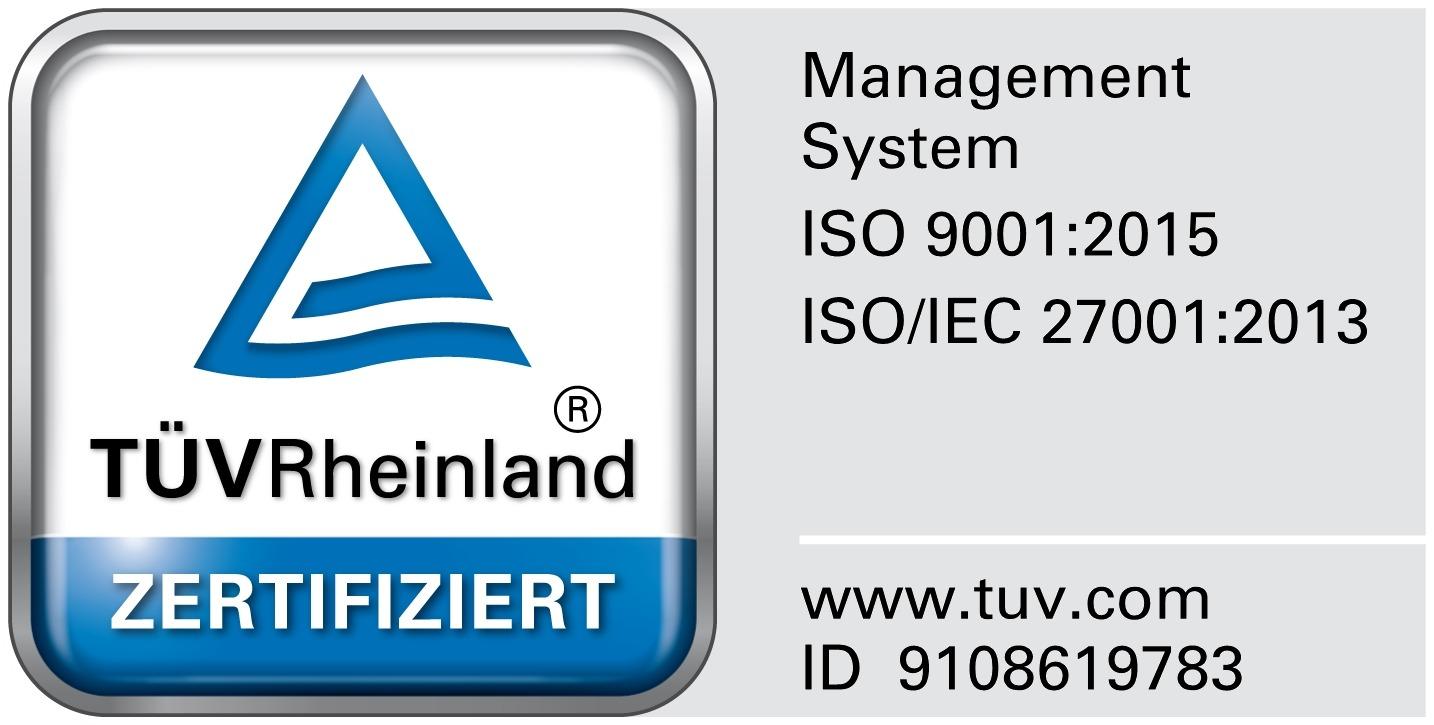 Zertifizierung nach der Norm ISO/IEC 27001 und 9001