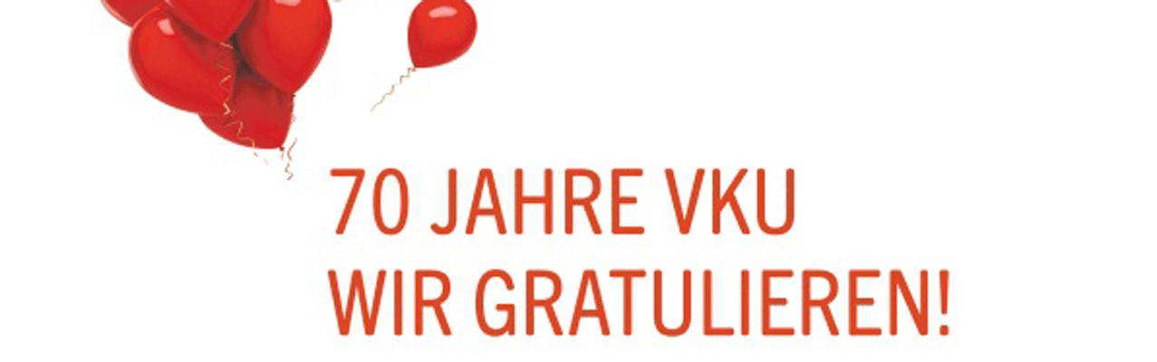 70 Jahre VKU – items gratuliert